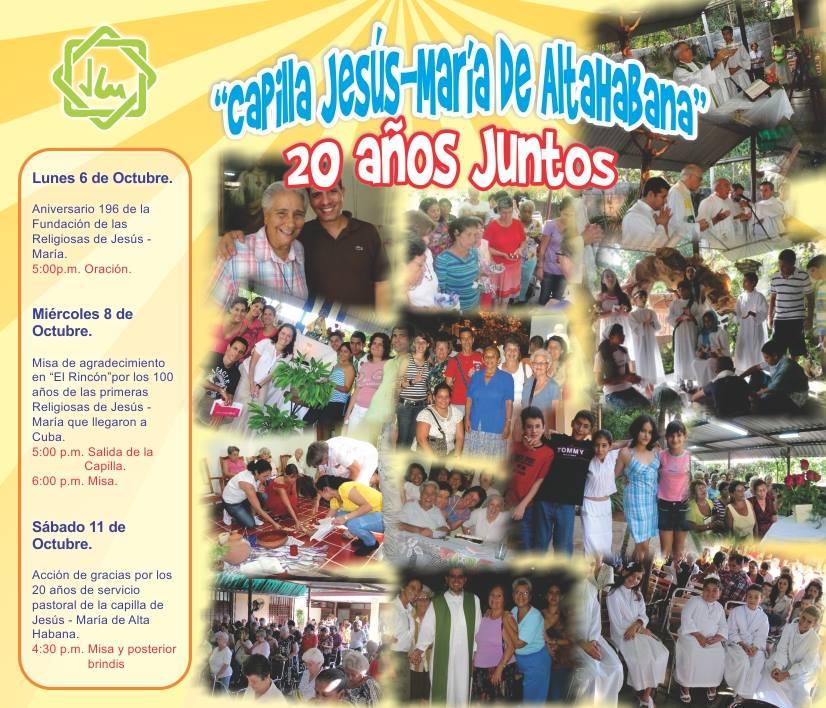 """20 Años Juntos """"Capilla Jesús-María"""" de Altahabana, Cuba."""