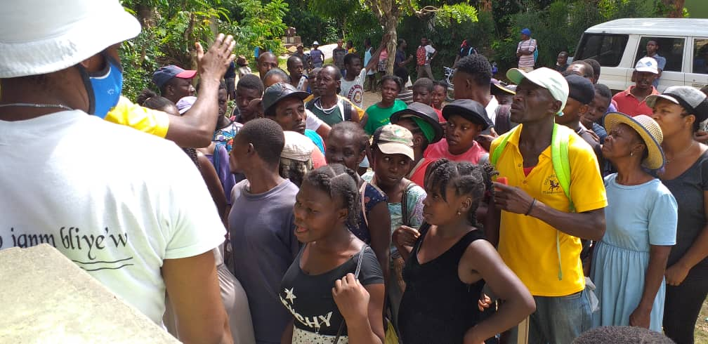 A REVIEW OF THE TRIP THAT SISTER FARZANA HAS MADE TO THE SOUTH OF HAITI